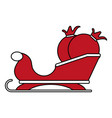 color silhouette image of santa claus sleigh with vector image