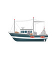 commercial fishing vessel side view icon vector image vector image