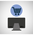 Computer device online shopping network icon
