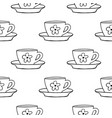 cups mug flower pattern seamless tile vector image vector image