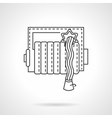 Fire hose reel thin line icon vector image vector image