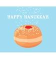 funny hanukkah card jewish holiday vector image vector image