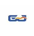 GJ letter logo vector image vector image