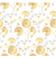 gold geometric dandelion flowers on white vector image vector image