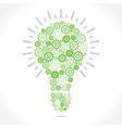 green gear make bulb shape vector image vector image