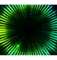 Green shining cosmic lights abstract background vector image vector image