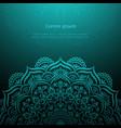 hand-drawn lace frame mandala vector image vector image