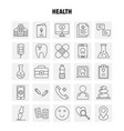 health line icon for web print and mobile uxui vector image vector image