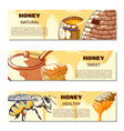 honey mock up banner vector image vector image