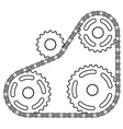industrial chain sprocket silhouette vector image vector image