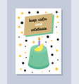 keep calm and celebrate card vector image