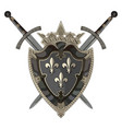 knight sword two crossed knight sword and vector image