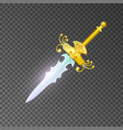 magic sabre isolated game element vector image