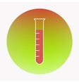 Medical flat design icon test-tube vector image vector image