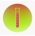 Medical flat design icon test-tube vector image