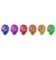 multicolored helium balloons for the australian vector image vector image