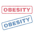 obesity textile stamps vector image vector image