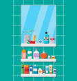 oral care and hygiene products vector image vector image