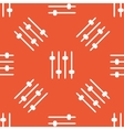 Orange faders pattern vector image vector image