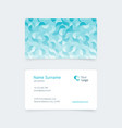 pattern creative vintage business card vector image vector image