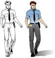 police man comics style vector image