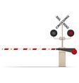 railroad crossing 02 vector image vector image