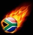 Round glossy icon of south africa vector image vector image