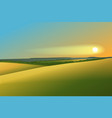 Rural landscape with sunset vector image