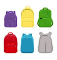 school backpack college realistic students handy vector image vector image