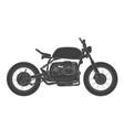 scrambler vintage motorcycle cafe racer theme vector image vector image