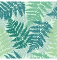 Seamless repeating fern pattern background vector image vector image