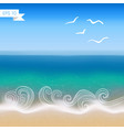 Seaside view background vector image vector image