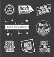 set back to school lettering vector image