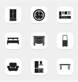 set of 9 editable interior icons includes symbols vector image vector image