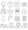 set of icons in line style communal gas vector image vector image
