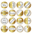 shiny gold gift round tags for gifts eps10 vector image vector image