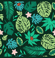 simple tropical seamless pattern with leaves vector image