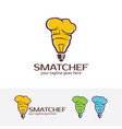 smart chef logo vector image vector image