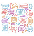 sound bubble speech bubbles with phrases word vector image