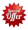 Special offer tag Red sticker Icon for sale vector image vector image
