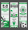sport bar invitation banner for football event vector image