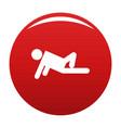 stick figure stickman icon red vector image