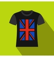 T-shirt with the British flag icon flat style vector image vector image