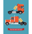 Tractor Unit for Sale Poster vector image vector image
