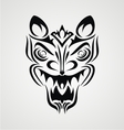 Tribal Demon Face vector image