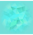 turquoise blue poligonal background vector image vector image