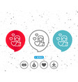woman in love line icon heart sign vector image vector image
