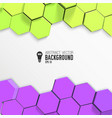 yellow and lilac hexagons background