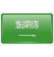 Flags Saudi Arabia in the form of a magnet on vector image