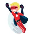 flying superhero boy vector image